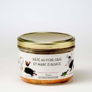 paté au foie gras et marc d'alsace