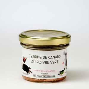 terrine de canard au poivre vert