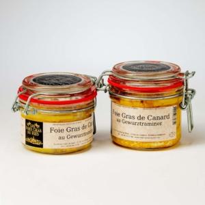 foies gras de canard au gewurztraminer