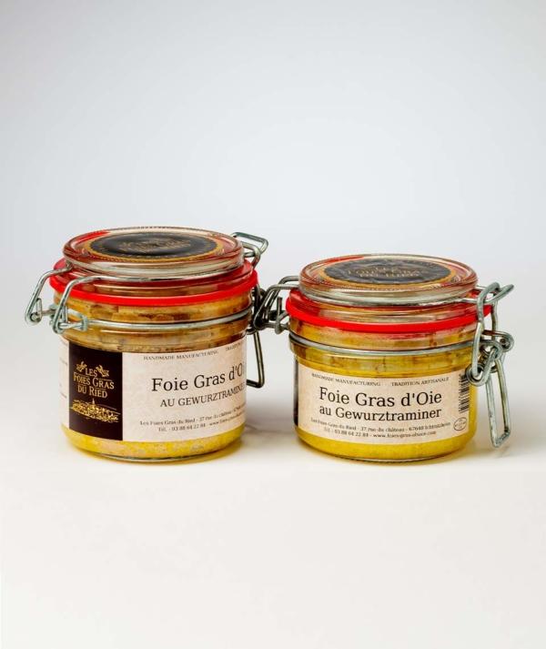 conserves foie gras d'oie au gewurztraminer
