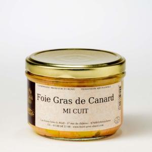 foie gras de canard mi-cuit conserve