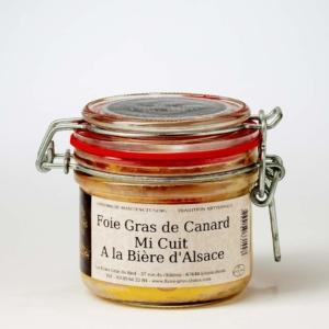 foie gras de canard mi-cuit à la bière d'Alsace